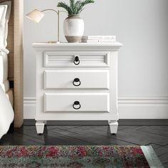 Lee Storage Cabinet & Reviews | Joss & Main Panel Headboard, Panel Bed, 3 Drawer Nightstand, Nightstands, Adjustable Beds, Bedroom Styles, Engineered Wood, Bedroom Decor, Gold Bedroom