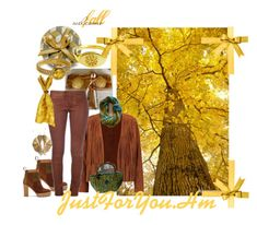 """""""#autumn in yellow"""" by justforyouhm ❤ liked on Polyvore featuring Hostess, Sandro, Giallo and See by Chloé"""