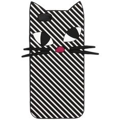 Lulu Guinness Women Kooky Cat Stripe Silicone Iphone 6 Case ($60) ❤ liked on Polyvore featuring accessories, tech accessories and lulu guinness