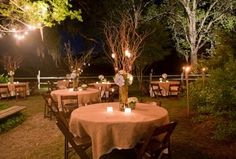 decor setting venue outdoor garden miscellaneous place setting candles reception centerpieces country decorations rustic table tables theme wedding lawn