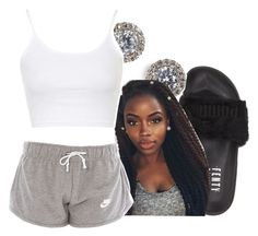 """7/6/16"" by lookatimani ❤ liked on Polyvore featuring Puma, Nadri and Topshop"