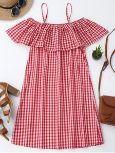 No Summer Plaid Short Spaghetti Mini A-Line Casual and Day Elegant Cami Plaid Ruffle Dress Baby Girl Dresses, Baby Dress, Cute Dresses, Cute Summer Outfits, Kids Outfits, Cute Outfits, Dress Outfits, Lace Dress With Sleeves, Ruffle Dress