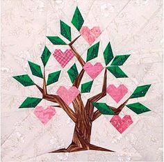Family Tree Paper-Pieced Quilt Pattern at paperpanache.com