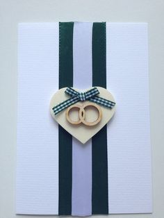 "Wedding greeting card ""wooden rings"""