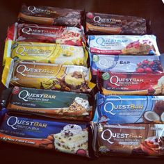 Fav flavors: cookie dough, double Choc chunk, peanut butter chocolate, brownie (all of them accepted though)tried the lemon one today new fav lower calorie too Quest Nutrition, Quest Bars, Protein Bars, Cardiff, Chocolate Peanut Butter, Cookie Dough, Healthy Snacks, Lemon, Cookies