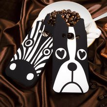 High quality silicone protector Cartoon cover Case For Samsung Galaxy J5 J500, Zebra and Dog 3D Soft phone Case For Samsung J5