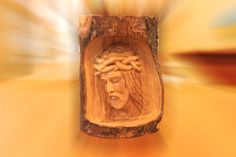 Jesus Head sculpture by Jesusolivewood on Etsy, $33.00