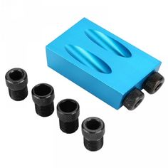 Pocket Hole Jig Kit Drive Adapter For Woodworking Angle Drilling Holes Guide Wood Tools Drilling Tools, Drill Guide, Pocket Hole Jig, Wood Tools, Woodworking Tools, Gifts For Him, Kit, Sushi, Tech