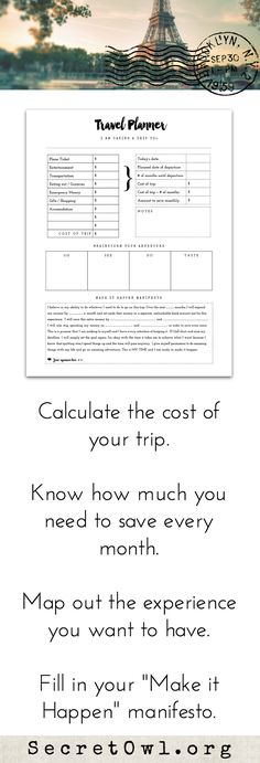 This trip planner printable is a part of the Ultimate Life Binder Kit. Use it to get clarity planning your next trip and go on more adventures sooner.