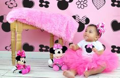 Minnie Mouse Tutu Outfit PersonalizedPink by TuTooCuteTutus, $48.00