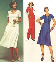 70s Geoffrey Beene Vogue Sewing Pattern 1494 Womens by CloesCloset