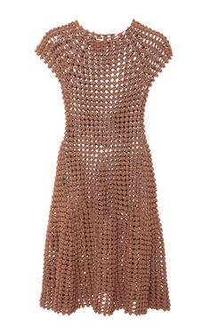 Popcorn Stitch Mini Dress by HELEN RöDEL for Preorder on Moda Operandi