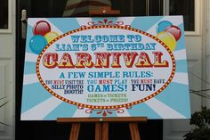 """Photo 27 of Carnival / Birthday """"Liam's Birthday Carnival"""" Circus Carnival Party, Carnival Birthday Parties, Carnival Themes, 5th Birthday, Birthday Party Themes, Birthday Invitations, Circus Theme, Spring Carnival, Party Time"""