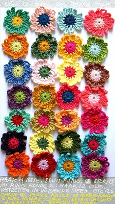 ingthings: Crochet 0n (flowers, this time).  Free pattern.  Thanks for sharing. x
