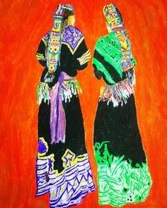 #OilPainting #Paper Price $10,000 #WishaArtGallery  Order via DM or visit the website  Tribe beauty of Kalash Valley