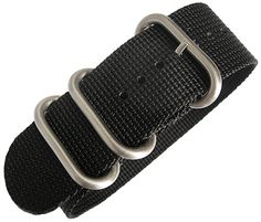 One-piece UTC band w/ brushed stainless steel rings. Tightly cross-woven ballistic nylon. Ring pockets sewn into place with industrial machine stitching. Black. Free shipping!