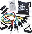 Black Mountain Products Resistance Band Set with Door Anchor, Ankle Strap, Exercise Chart, and Resistance Band Carrying Case $22 on #amazon #cybermonday