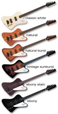 Gibson Thunderbird colours