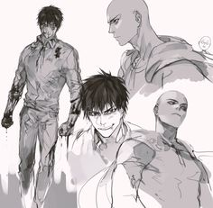 OnePunch-Man / Ванпанчмен / One punch man Saitama One Punch Man, One Punch Man Anime, One Punch Man Funny, Anime One, Anime Guys, Manga Anime, One Punch Man Wallpapers, Caped Baldy, Page One