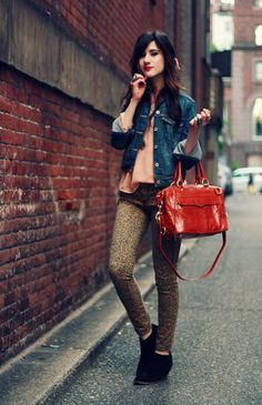 wearing: jacket- Levi's; blouse c/o Lucca Couture; denim- Free People; bag c/o Rebecca Minkoff; 'pepper' boots c/o 80%20