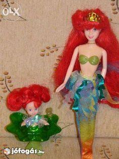 """""""Ariel"""" Barbie baba + egy kis sellő"""