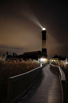 Fire Island Lighthouse, Cloudy Night via 500px
