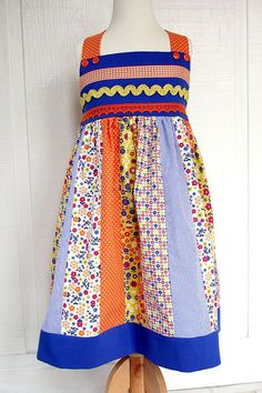 Blue and orange Cuppy Cake dress by iveyc95, via Flickr