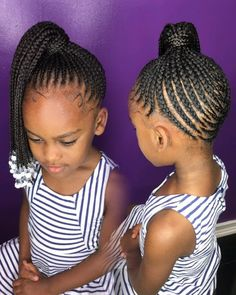 61 Totally Chic And Colorful Box Braids Hairstyles To Wear! Box Braids Hairstyles, Little Girl Braid Hairstyles, Little Girl Braids, Baby Girl Hairstyles, Black Girl Braids, Kids Braided Hairstyles, Braids For Kids, Girls Braids, Cute Hairstyles