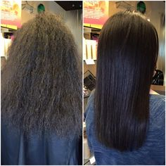 Our client comes in every week for a wash and blow dry with Lindsey. After thoughtful consideration, Isabella decided to get the Keratin Complex Smoothing Treatment to help reduce her frizz and curl, making her hair smoother and easier to maintain at home.