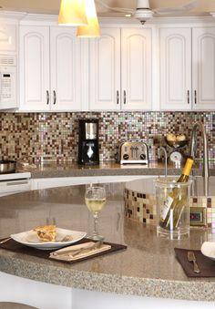 #Kitchen in the round #granite #remodel