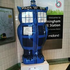 Dr Whoot Owl  at Snowhill Station Birmingham. raised 10,500 pounds at the auction