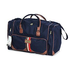 Fashion Essentials -PU trim section with two zipped side pockets Cargo Holdall…