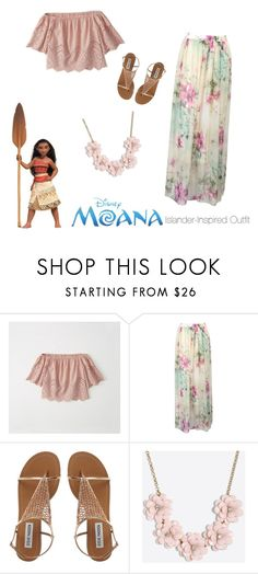 """""""""""Moana"""" Islander-Inspired Outfit"""" by crunchyblue on Polyvore featuring Abercrombie & Fitch, WithChic and J.Crew"""