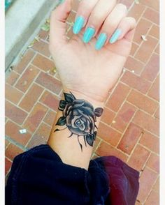 Colorful Flower Wrist Tattoos For Women