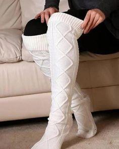 Thigh High Leg Warmers, Thigh High Socks, Thigh Highs, Knitting Socks, Knit Socks, School Uniform Skirts, Matching Socks, Warm Socks, Outerwear Women