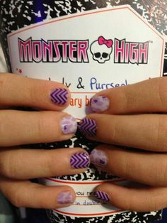 Purples mix match fun nail designs for kids