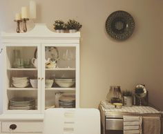 Decorating Small Spaces, China Cabinet, Shabby, Storage, Furniture, Home Decor, Purse Storage, Homemade Home Decor, Crockery Cabinet