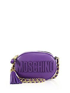 Moschino - Leather Chain Strap Small Crossbody Bag