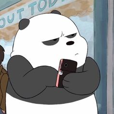 mikey if u read this, this is the exact face u give me sometimes We Bare Bears Wallpapers, Panda Wallpapers, Cute Wallpapers, Bear Wallpaper, Cartoon Wallpaper, Disney Wallpaper, Cartoon Icons, Cartoon Memes, Cute Cartoon