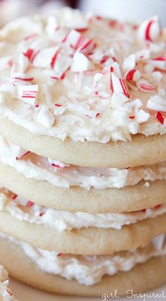 Candy Cane Cookies with Peppermint Marshmallow Frosting Recipe