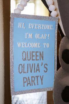 Frozen themed birthday party via Kara's Party Ideas KarasPartyIdeas.com Cake, printables, decor, invitation, games, etc! #frozen #frozenpart...