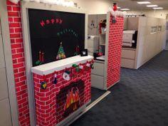 Christmas Cubicle Christmas Cubicle Decorations, Christmas Themes, Holiday Fun, Christmas Crafts, Holiday Decor, Christmas Christmas, Office Decorations, Christmas Planning, Work Cubicle