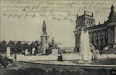 Berlin, Bismarck-Denkmal und Reichstagsgebäude um 1912