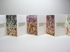 Accordian book with Collagraphs