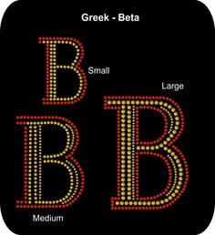 Rhinestone Bling Iron-on - Greek - Sorority - Letter - Beta - Graduation Senior Appliqué   Rhinestone T-shirt Transfer  - Bling DIY - pinned by pin4etsy.com