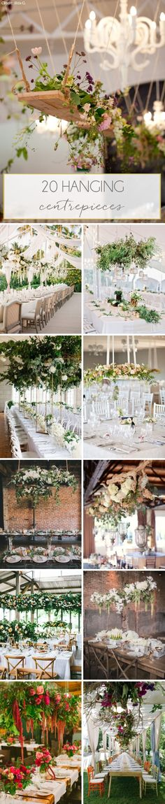 20 Hanging Centrepieces for Weddings | SouthBound Bride | http://www.southboundbride.com/hanging-centrepieces