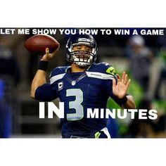 A LOT can happen in 3 minutes!! GO HAWKS!! #SuperBowlRePete
