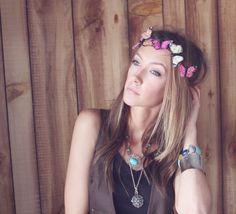 FLUTTER - Butterfly Headband, Butterfly Headpiece, Festival Headband, Butterfly Crown. $28.00, via Etsy.