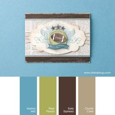 Marina Mist, Pear Pizzazz, Early Espresso, Crumb Cake #stampinupcolorcombos