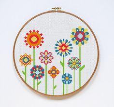 Modern Flowers pokemon cross stitch pattern by DazzlingDoilies